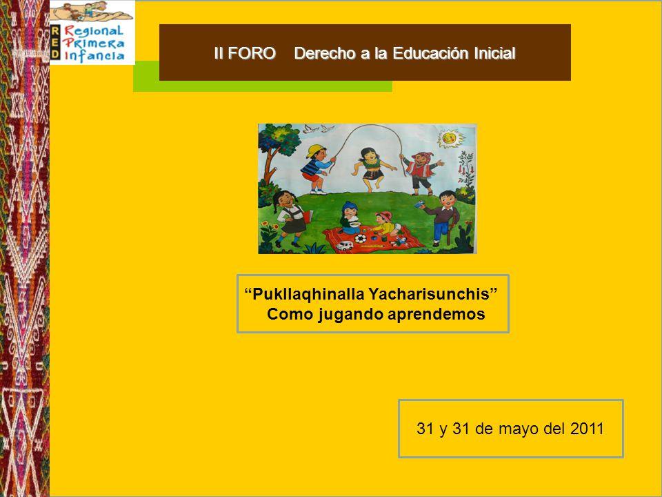 II FORO Derecho a la Educación Inicial
