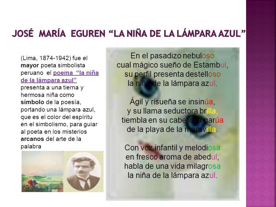JOSé MARíA EGUREN LA NIÑA DE LA LáMPARA AZUL