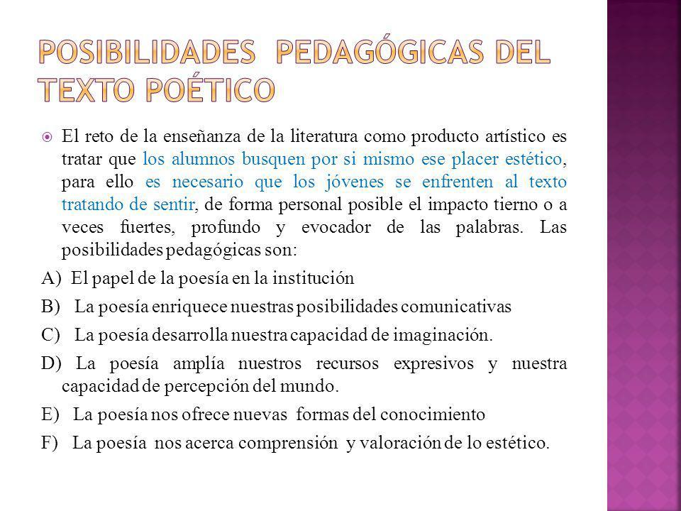 Posibilidades pedagógicas del texto poético