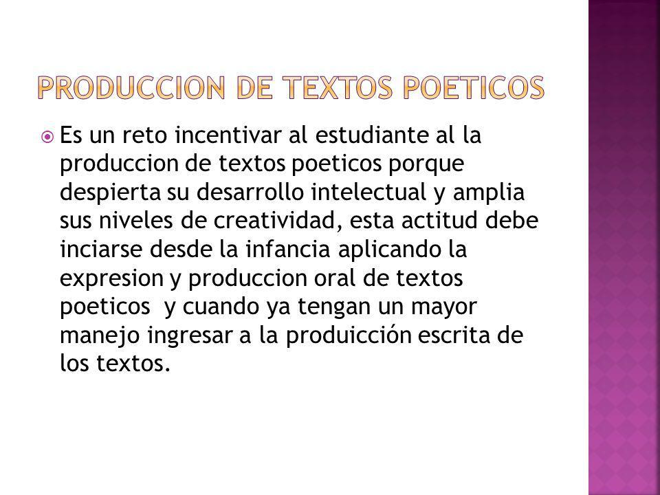 Produccion de textos poeticos