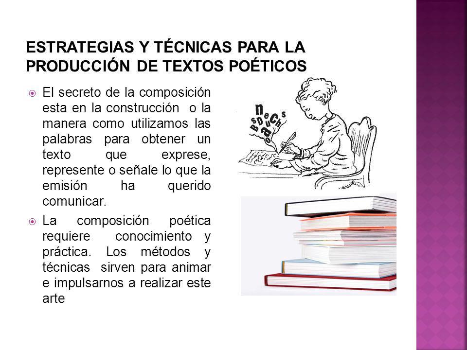 ESTRATEGIAS Y TÉCNICAS PARA LA PRODUCCIÓN DE TEXTOS POÉTICOS