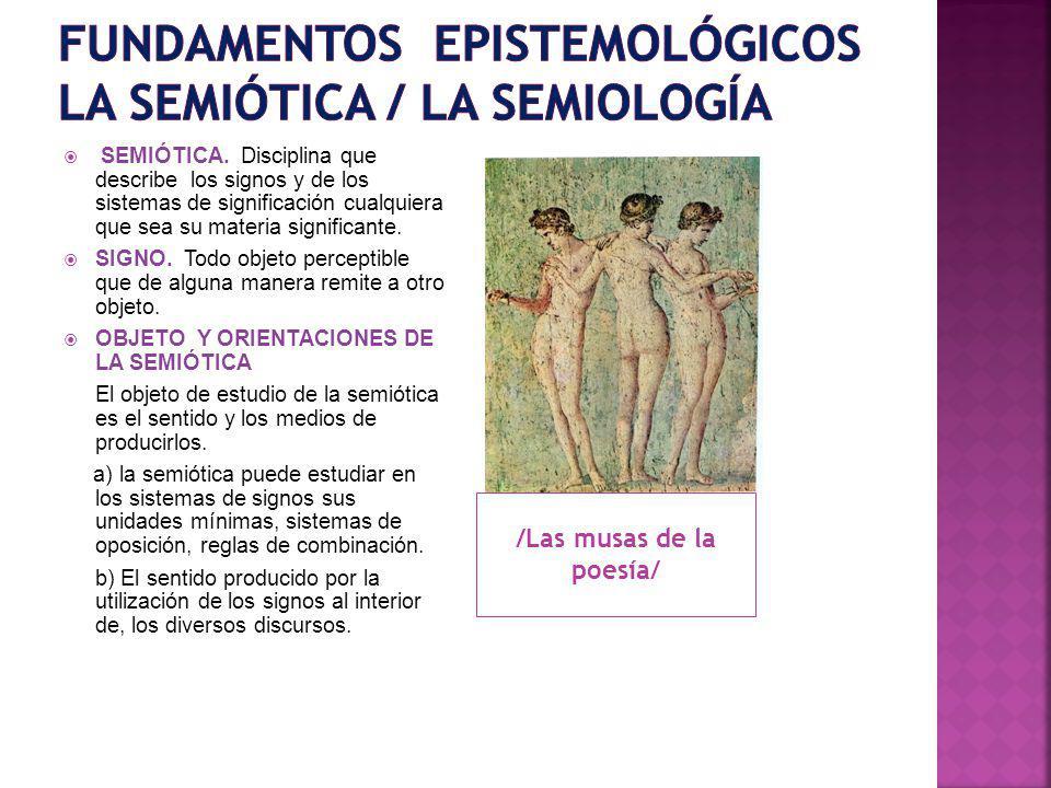 Fundamentos epistemológicos la semiótica / la semiología
