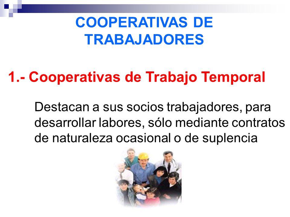 COOPERATIVAS DE TRABAJADORES