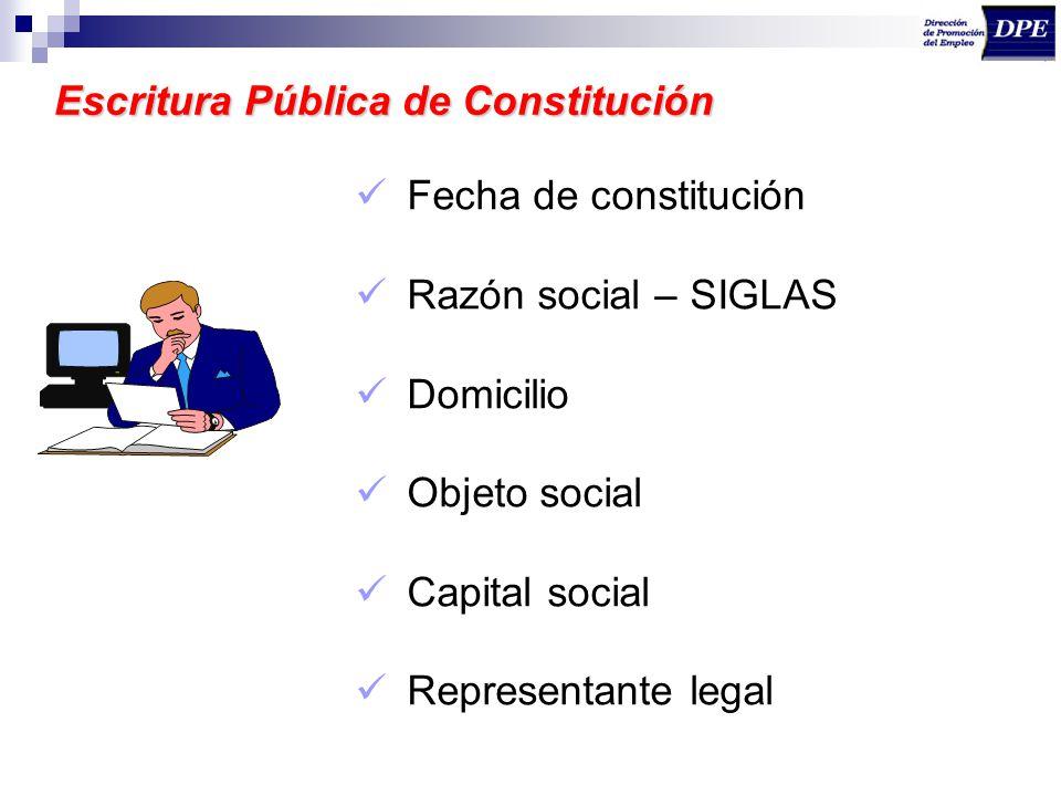 Escritura Pública de Constitución