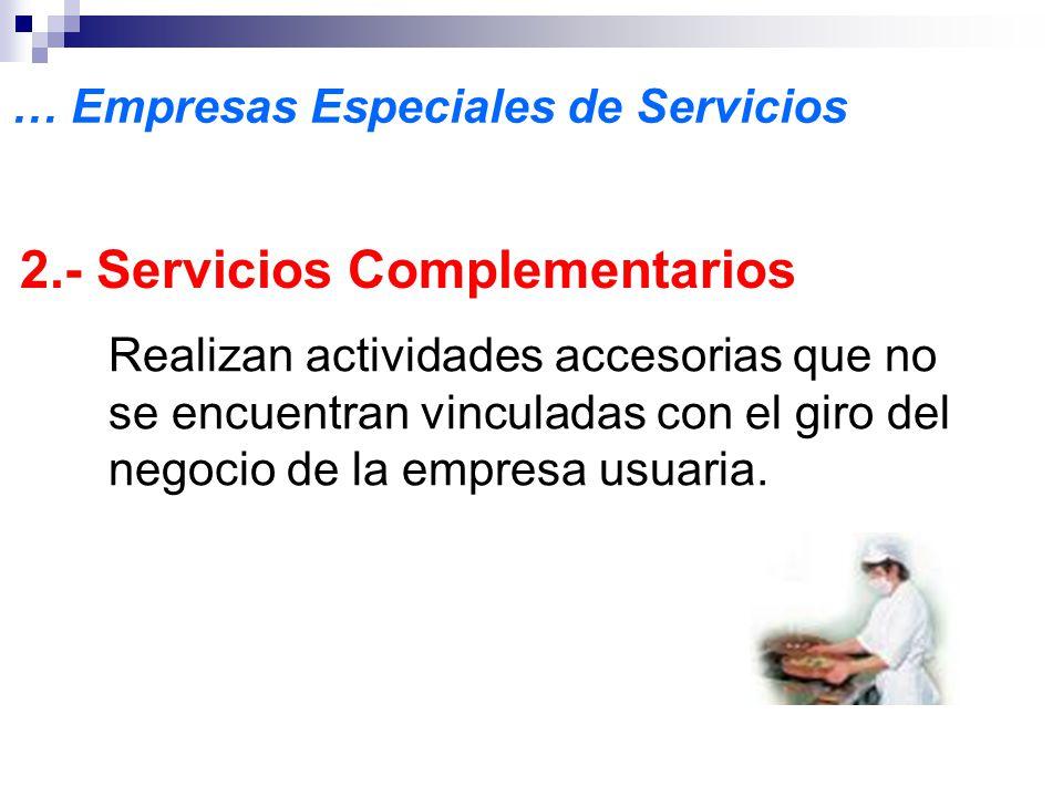 2.- Servicios Complementarios
