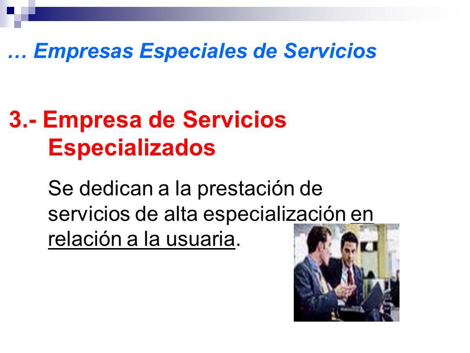 3.- Empresa de Servicios Especializados