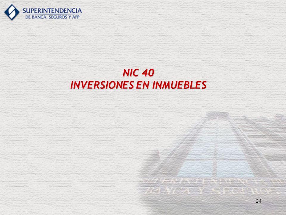 NIC 40 INVERSIONES EN INMUEBLES
