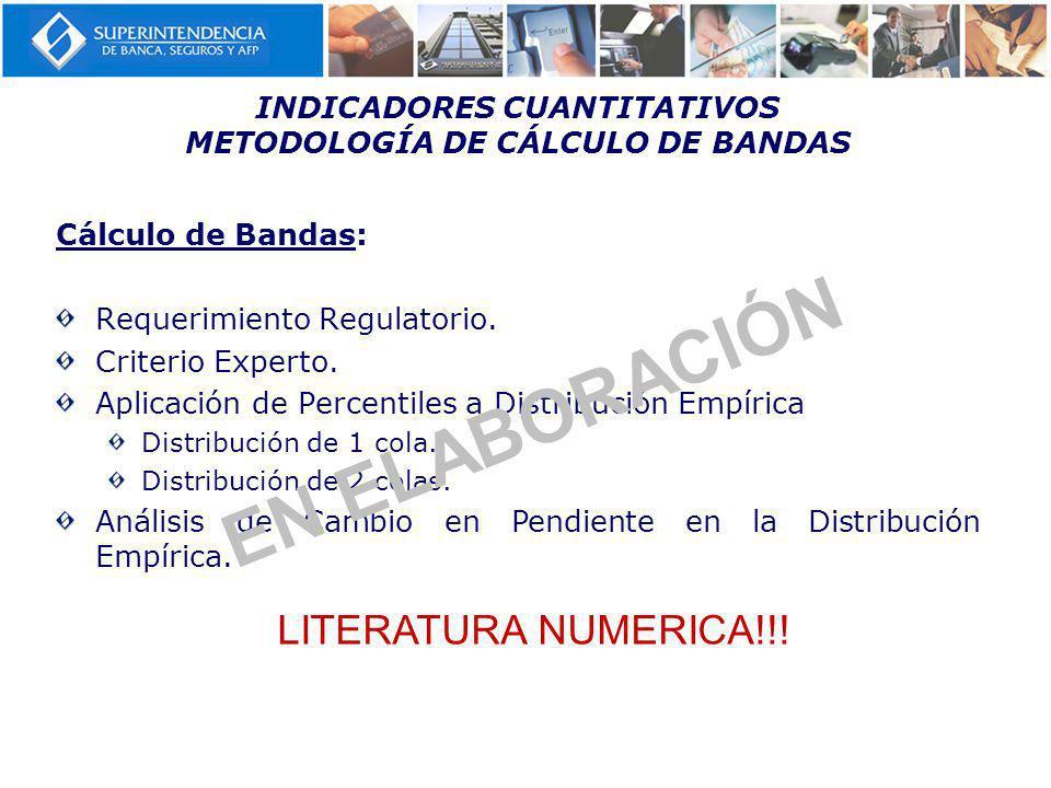 INDICADORES CUANTITATIVOS METODOLOGÍA DE CÁLCULO DE BANDAS