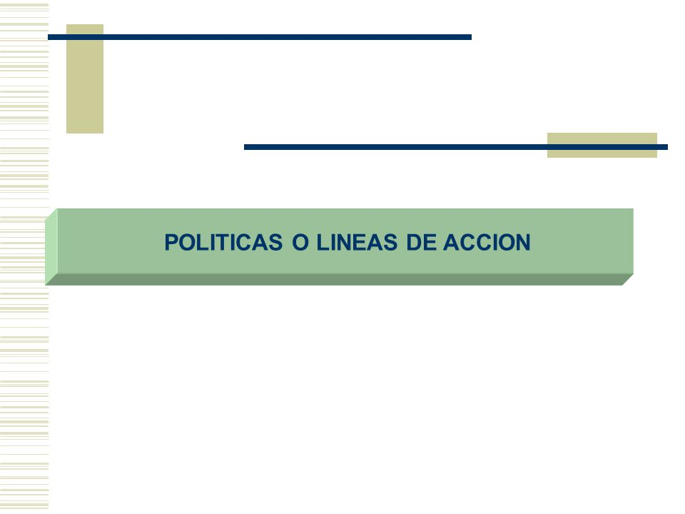 POLITICAS O LINEAS DE ACCION