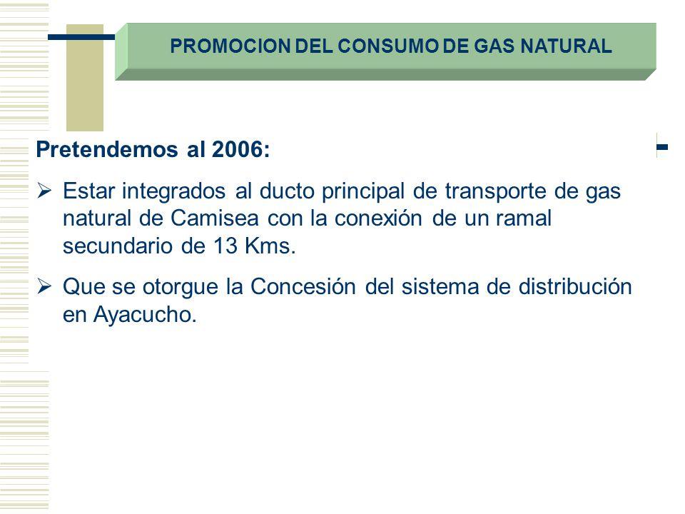 PROMOCION DEL CONSUMO DE GAS NATURAL