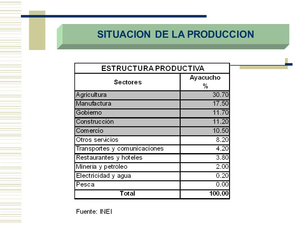 SITUACION DE LA PRODUCCION