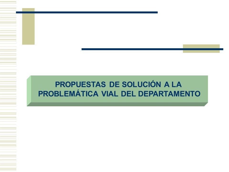 PROPUESTAS DE SOLUCIÓN A LA PROBLEMÁTICA VIAL DEL DEPARTAMENTO