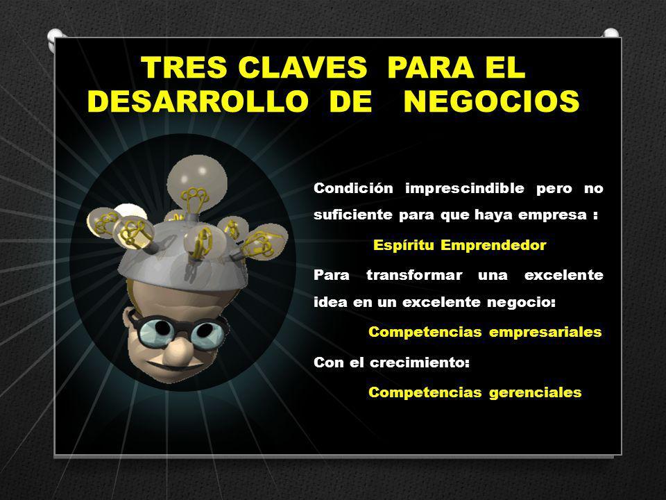 TRES CLAVES PARA EL DESARROLLO DE NEGOCIOS