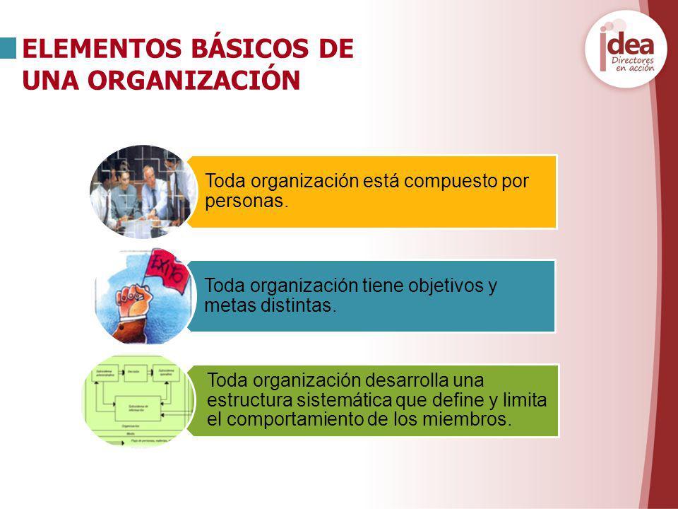 ELEMENTOS BÁSICOS DE UNA ORGANIZACIÓN