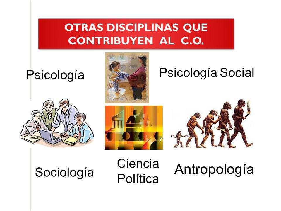 OTRAS DISCIPLINAS QUE CONTRIBUYEN AL C.O.