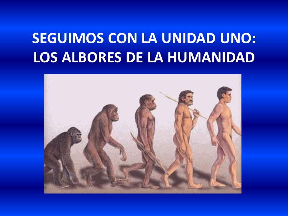 SEGUIMOS CON LA UNIDAD UNO: LOS ALBORES DE LA HUMANIDAD