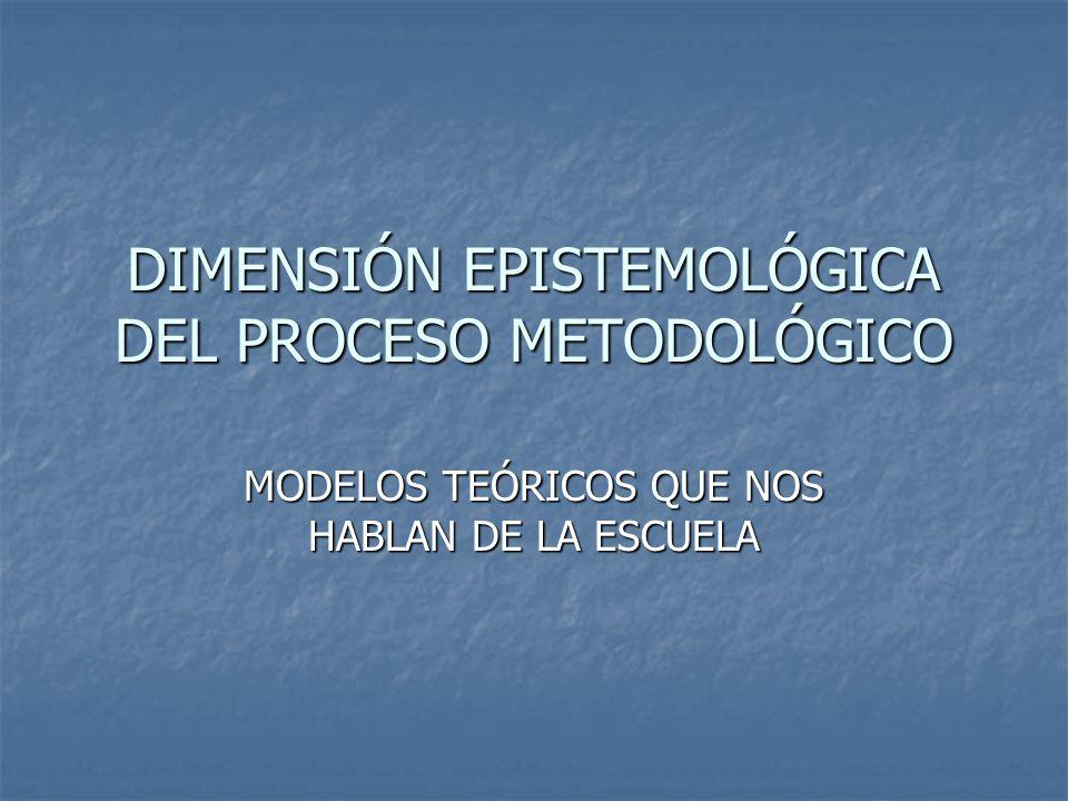 DIMENSIÓN EPISTEMOLÓGICA DEL PROCESO METODOLÓGICO