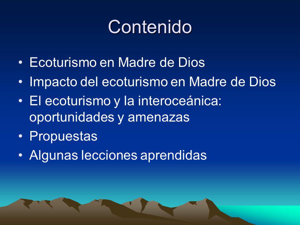 Contenido Ecoturismo en Madre de Dios