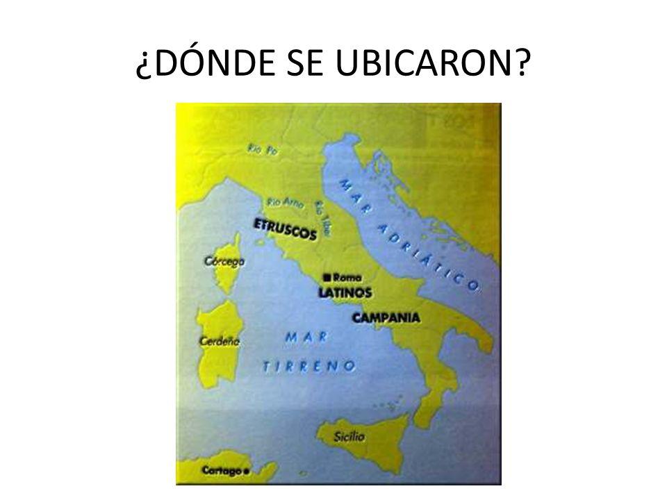 ¿DÓNDE SE UBICARON