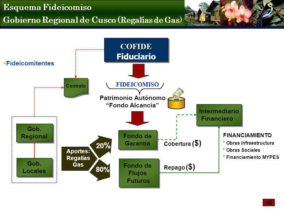 Gobierno Regional de Cusco (Regalías de Gas)