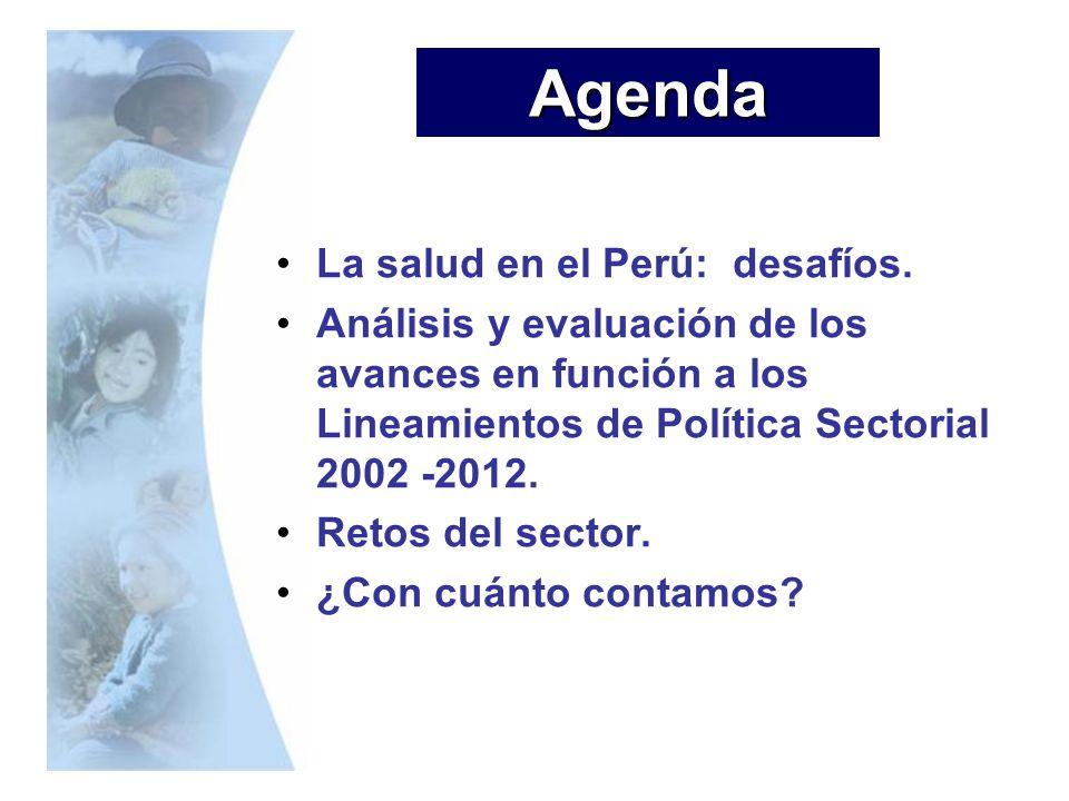 Agenda La salud en el Perú: desafíos.
