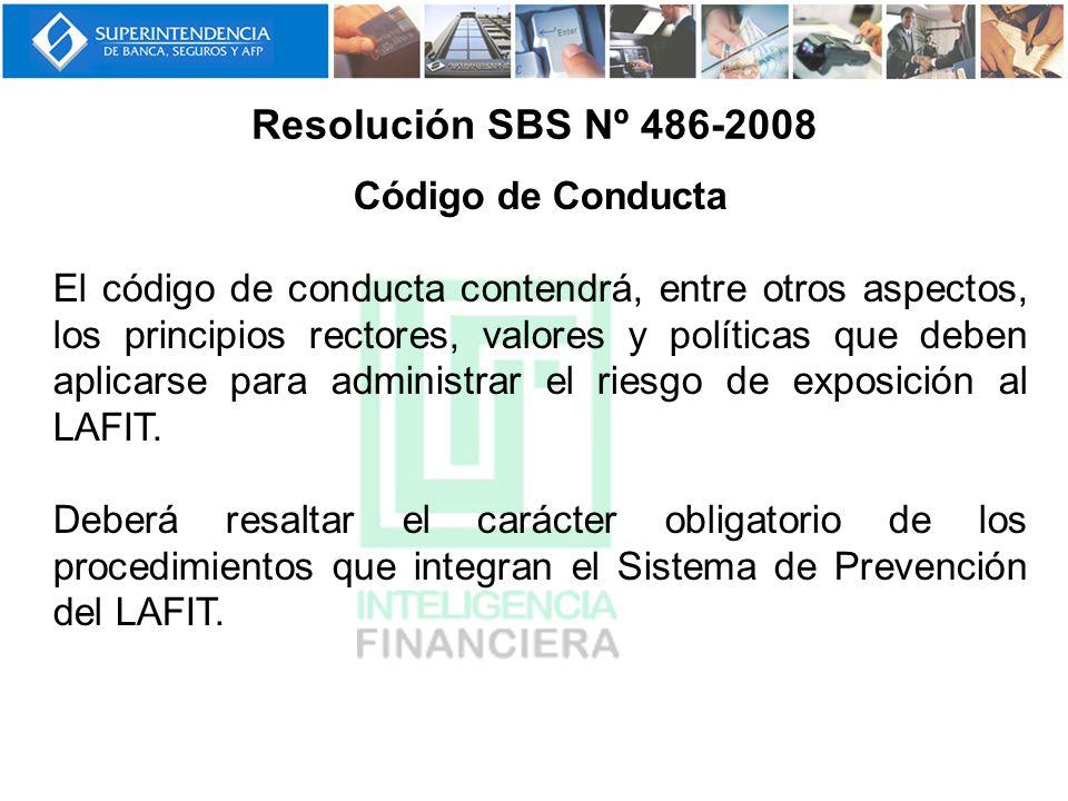 Resolución SBS Nº 486-2008 Código de Conducta