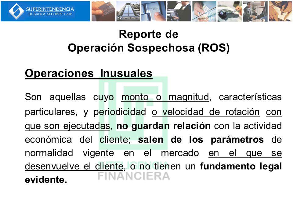 Reporte de Operación Sospechosa (ROS)