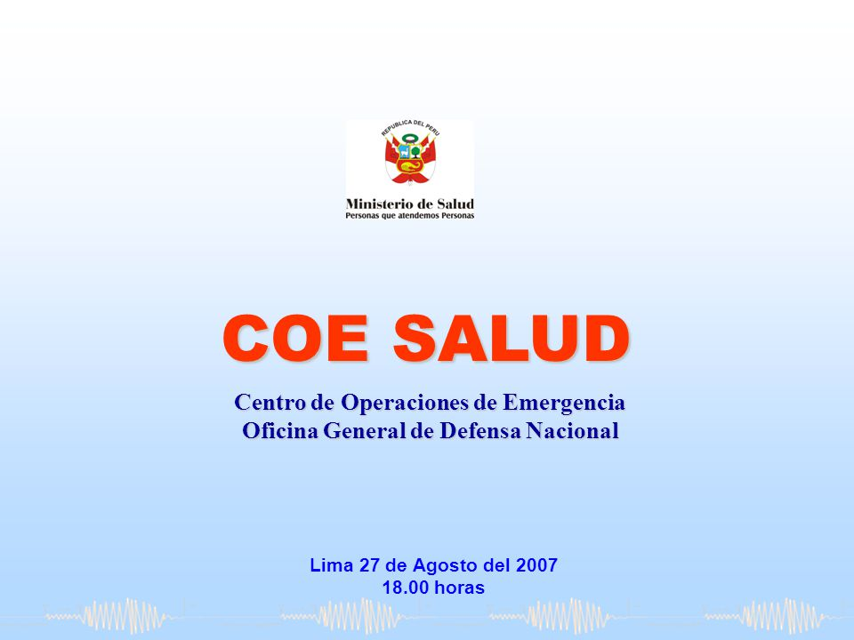 COE SALUD Centro de Operaciones de Emergencia