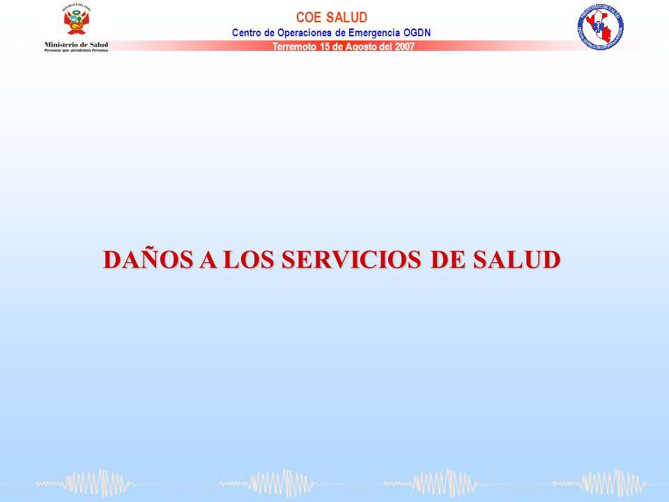 DAÑOS A LOS SERVICIOS DE SALUD