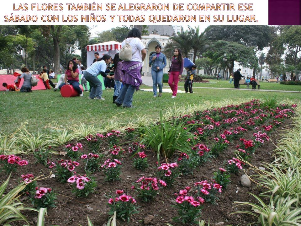 Las flores también se alegraron de compartir ese sábado con los niños y todas quedaron en su lugar.
