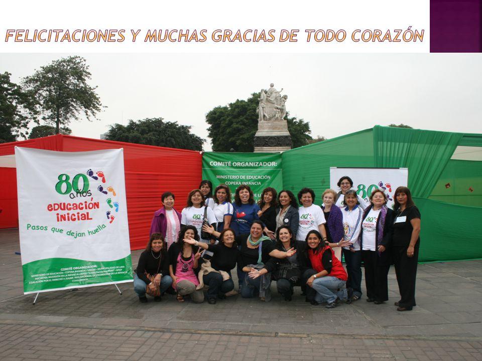 FELICITACIONES Y MUCHAS GRACIAS DE TODO CORAZÓN