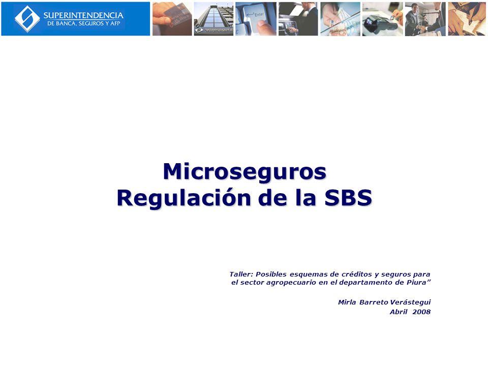 Microseguros Regulación de la SBS