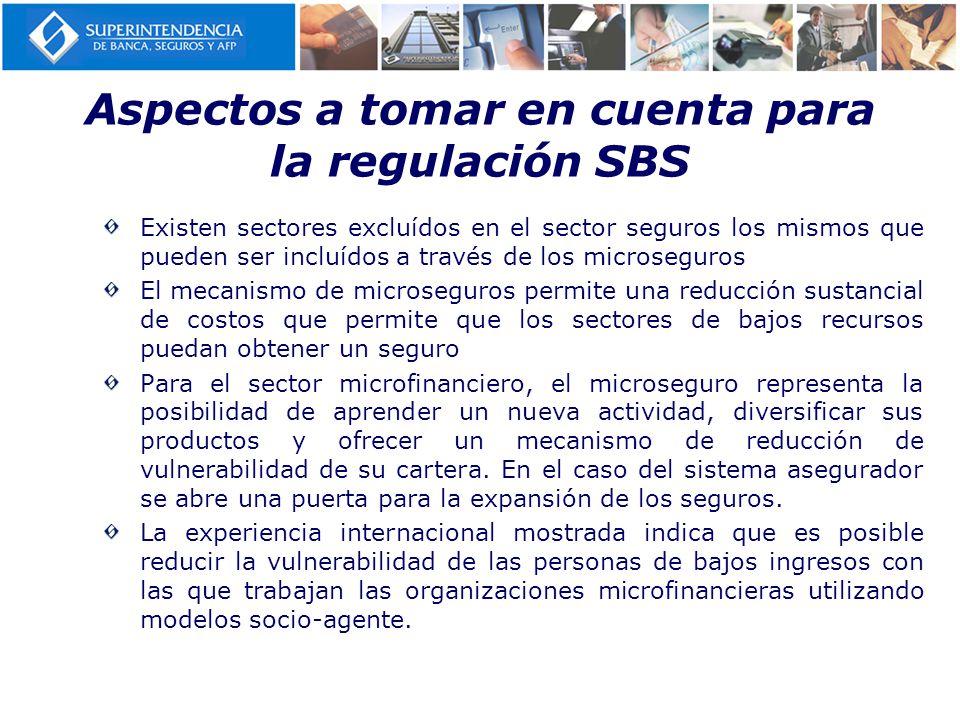 Aspectos a tomar en cuenta para la regulación SBS