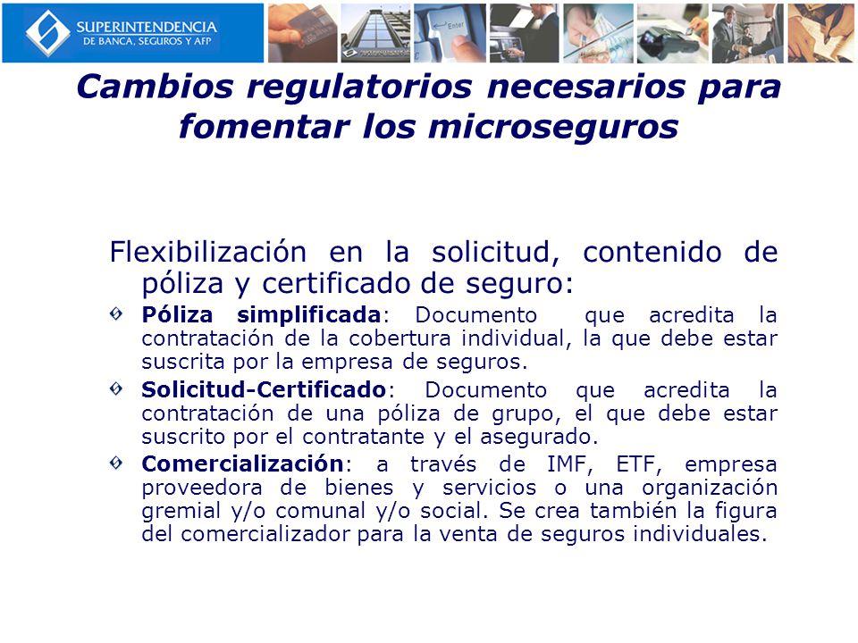 Cambios regulatorios necesarios para fomentar los microseguros