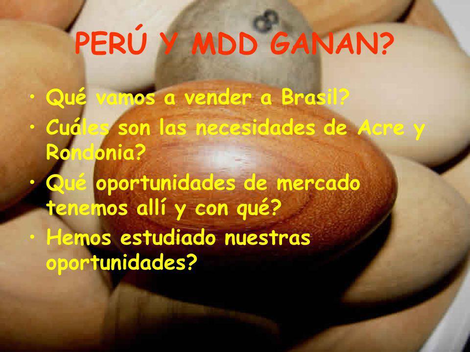 PERÚ Y MDD GANAN Qué vamos a vender a Brasil