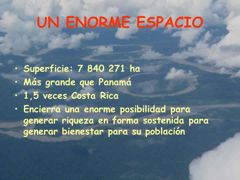 UN ENORME ESPACIO Superficie: 7 840 271 ha Más grande que Panamá
