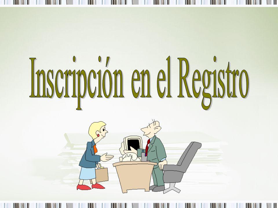 Inscripción en el Registro