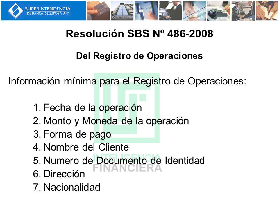 Del Registro de Operaciones