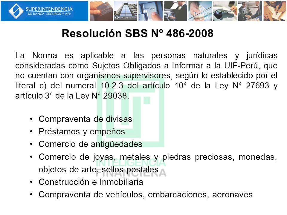Resolución SBS Nº 486-2008 Compraventa de divisas Préstamos y empeños