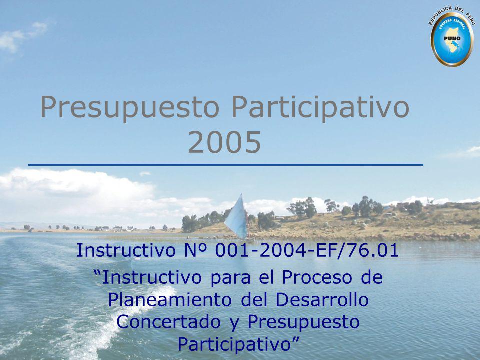 Presupuesto Participativo 2005