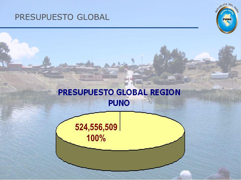 PRESUPUESTO GLOBAL 524,556,509 100%