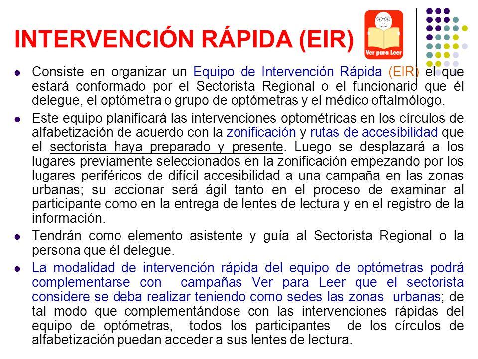 INTERVENCIÓN RÁPIDA (EIR)