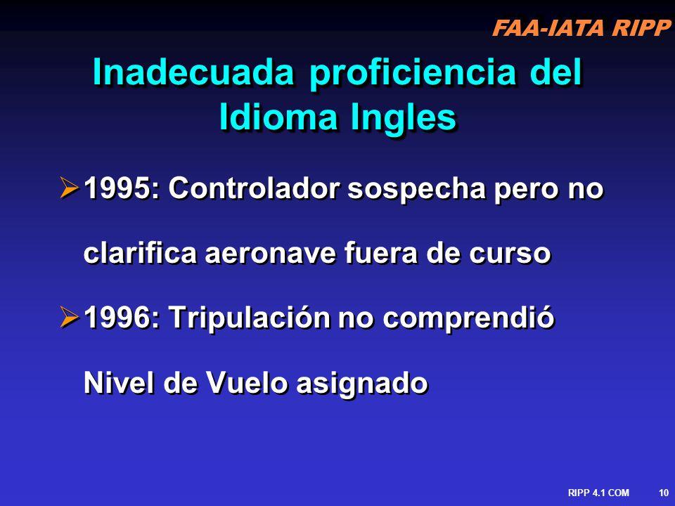 Inadecuada proficiencia del Idioma Ingles