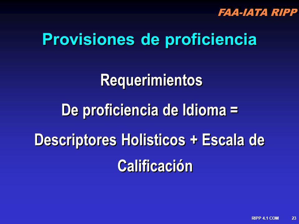 Provisiones de proficiencia