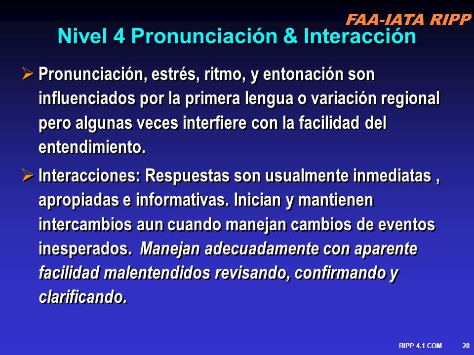 Nivel 4 Pronunciación & Interacción