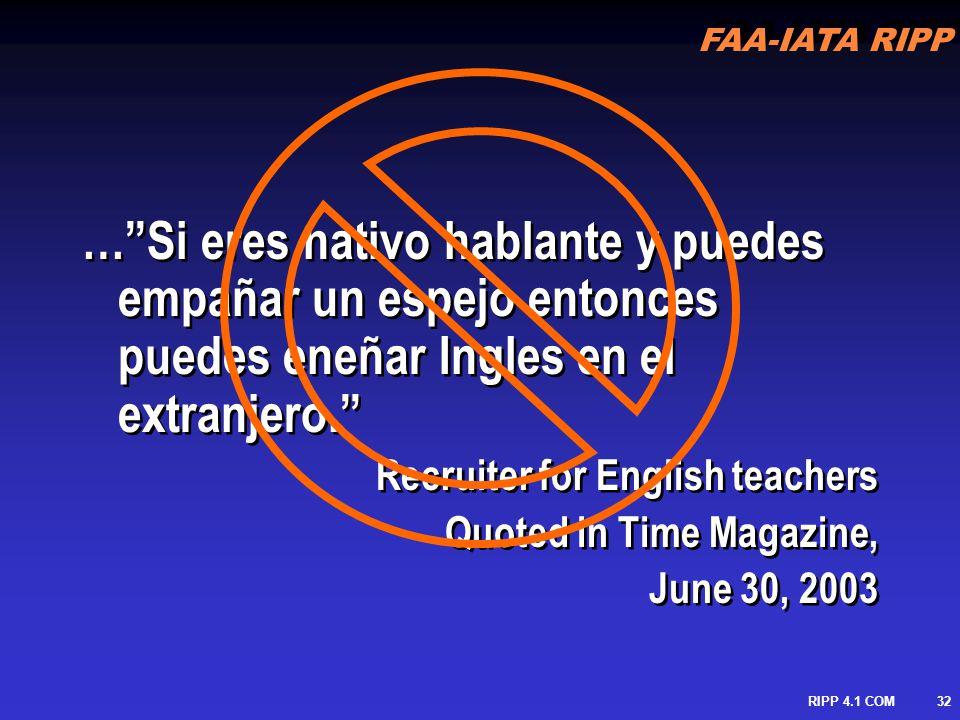 … Si eres nativo hablante y puedes empañar un espejo entonces puedes eneñar Ingles en el extranjero.