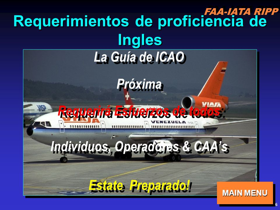 Requerimientos de proficiencia de Ingles