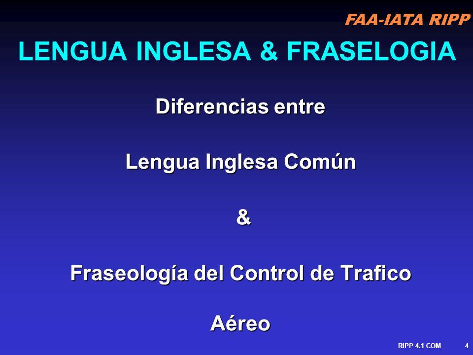 LENGUA INGLESA & FRASELOGIA