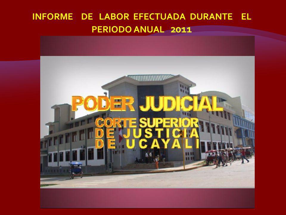 INFORME DE LABOR EFECTUADA DURANTE EL PERIODO ANUAL 2011
