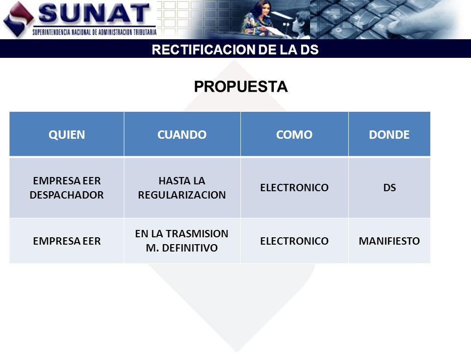 HASTA LA REGULARIZACION EN LA TRASMISION M. DEFINITIVO